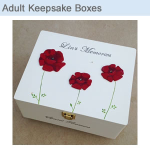Adult Keepsake Memory Boxes