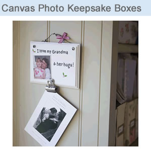 Canvas Photo Keepsake Boxes
