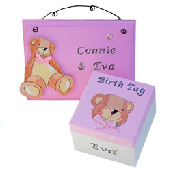 Baby Girl Trinket Box and Sign