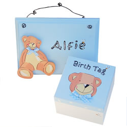 Baby Boy Trinket Box and Sign
