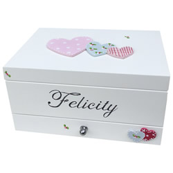 Toril Design Hand Painted Personalised Baby Keepsake Box Made Of