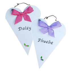 Rustic Heart Lilac or Cerise