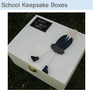 School Keepsake Memory Boxes