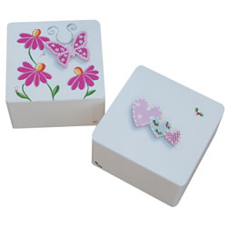 Butterfly or Heart Trinket Box