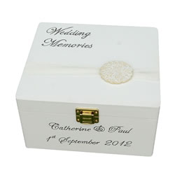 Small Wedding Keepsake Box